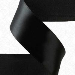 """5/8"""" SINGLE FACE SATIN RIBBON - BLACK"""