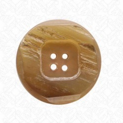 4 HOLE HORN BUTTON - NATURAL found on Bargain Bro Philippines from M&J Trimming Affiliate Program for $4.98
