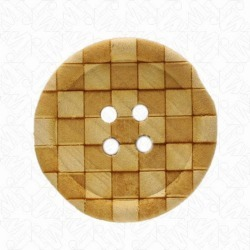 CHECKERED WOOD BUTTON found on Bargain Bro from M&J Trimming Affiliate Program for $0.79