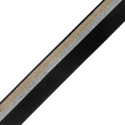 18MM METALLIC FOLDOVER ELASTIC -18mm-BLACK/SILVER/GOLD found on Bargain Bro Philippines from M&J Trimming Affiliate Program for $2.98