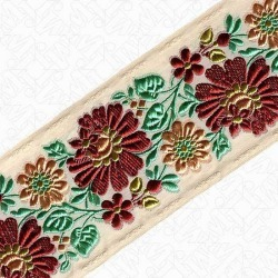 70MM FLORAL JACQUARD - NATURAL MULTI found on Bargain Bro Philippines from M&J Trimming Affiliate Program for $15.98