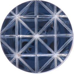Geometric Button 32mm BLUE title=