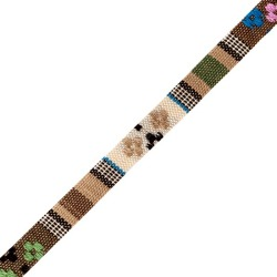 10mm Woven Ethnic Ribbon-BEIGE MULTI found on Bargain Bro Philippines from M&J Trimming Affiliate Program for $2.59