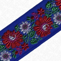 70MM FLORAL JACQUARD - ROYAL MULTI found on Bargain Bro Philippines from M&J Trimming Affiliate Program for $15.98