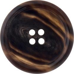 Horn Button-18mm-BROWN HORN