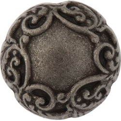 Metal Scroll Dome Button-25mm-ANTIQUE SILVER found on Bargain Bro Philippines from M&J Trimming Affiliate Program for $3.98