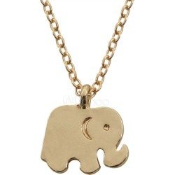 Elephant Pendant Necklace Gold Women's Chain Necklace found on MODAPINS from Milanoo.com Ltd for USD $4.99