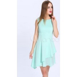 Jewel Neck Chiffon Bridesmaid Dress found on MODAPINS from Milanoo.com Ltd for USD $89.99