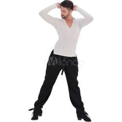 Ballroom Dance Costume Pants Men Black Practice Dancing Bottoms