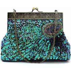 Peacock Pattern Sequnied Evening Bag found on Bargain Bro Philippines from Milanoo.com Ltd for $30.99