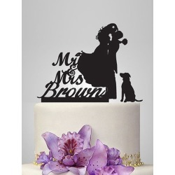 Toppers Black Personalized Wedding Decorations