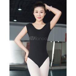 Ballet Dance Costume Women's Black Lace Backlesss Short Sleeve Leotard found on Bargain Bro India from Milanoo.com Ltd for $27.99