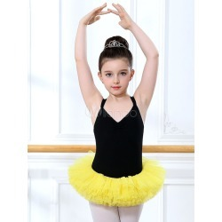 Ballet Dance Costumes Yellow Strappy Sleeveless Ballerina Costume For Kids found on Bargain Bro Philippines from Milanoo.com Ltd for $13.99