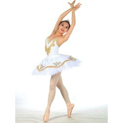 White Print Lycra Spandex Ballet Dress for Women found on Bargain Bro Philippines from Milanoo.com Ltd for $51.99