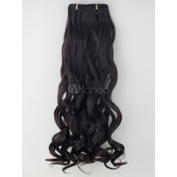 Chic Brown Long Curly Synthetic Hair Extensions For Teen Girls found on Bargain Bro India from Milanoo.com Ltd for $17.99