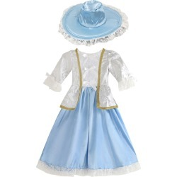 Renaissance Costume Halloween Kids Blue Dress And Hat Girls Costume Outfit