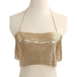 Women Body Chain Bralette Gold Sexy Body Jewelry found on MODAPINS from Milanoo.com Ltd for USD $14.99