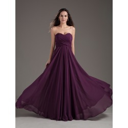 Bridesmaid Dresses2018 long chiffon strapless sweetheart neckline pleated plum maxi bridesmaid dress found on MODAPINS from Milanoo.com Ltd for USD $115.99