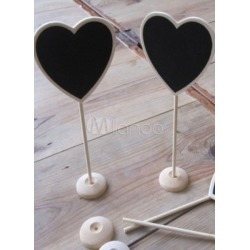 Black Herat Shape Wood Wedding Gift