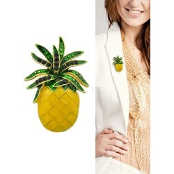 Gold Pineapple Brooch Pin Jewelry For Women