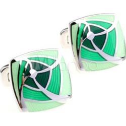 Cool Green Square Men's Fashion Cufflinks