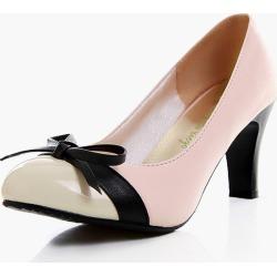 Attractive Chunky Heel PU Leather Almond Toe Women's High Heels