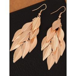 Gold Statement Earrings Women's Leaf Dangle Earrings found on MODAPINS from Milanoo.com Ltd for USD $2.99