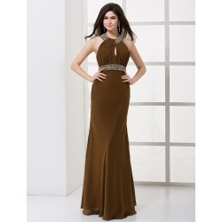 Formal Chiffon Pleated Halter Women's Evening Dress found on MODAPINS from Milanoo.com Ltd for USD $139.99