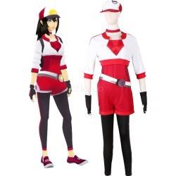 Pokemon Go Women Trainer Team Valor Instinct Mystic Halloween Cosplay Costume Red Halloween