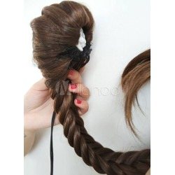 Women's Light Brown Braid Horse-tail found on Bargain Bro India from Milanoo.com Ltd for $14.99