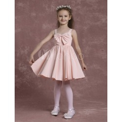 Pink Flower Girl Dresses Straps A Line Pageant Dresses Toddler's Bow Pleated Knee Length Formal Dresses found on MODAPINS from Milanoo.com Ltd for USD $61.99