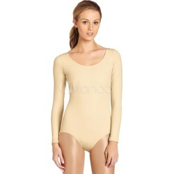 Nude Ballet Dance Costume Slim Fit Lycra Spandex Teddies for Women found on Bargain Bro India from Milanoo.com Ltd for $27.99