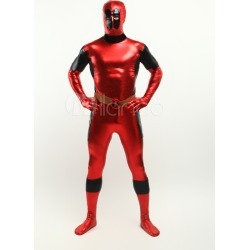 Halloween Deadpool Shiny Metallic Super Hero Costume Halloween