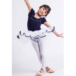 Ballet Dress Costumes Dark Navy Puff Short Sleeve Ruffle Ballerina Costume For Kids found on Bargain Bro India from Milanoo.com Ltd for $24.99