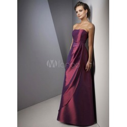 A-line Strapless Taffeta Bridesmaid Dress found on MODAPINS from Milanoo.com Ltd for USD $118.99
