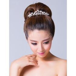 Bridal Tiara with Flower and Leaf