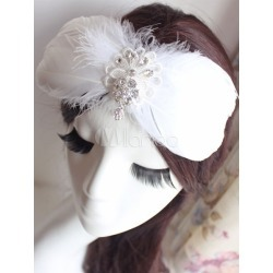 White Feather Headpiece Ballet Costume Hairpin found on Bargain Bro India from Milanoo.com Ltd for $8.99