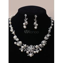 Bridal Jewelry Sets Hollow Wintersweet Decorated Rhinestone Wedding Jewelry Sets