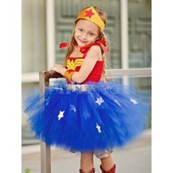 Girls Halloween Costume Blue Tutu Dress