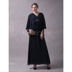 Wedding Guest Dress Dark Navy Arabic Mother Of The Bride Dresses Long...
