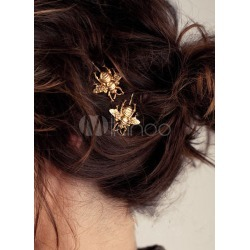 Gold Women Hairpin Metallic Bee Hair Accessory found on Bargain Bro India from Milanoo.com Ltd for $1.99