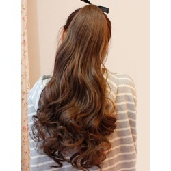 Charming Brown Long Curly Synthetic Hair Extensions found on Bargain Bro India from Milanoo.com Ltd for $13.99