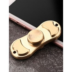 Fidget Spinner Toys Alloy Gold Finger Spinner 2 Blades Hand Stress Reducer Personalized Valentine Gifts