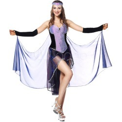 Witch Costume Halloween Women Dresses Set Costume Outfit