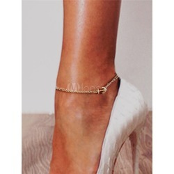 Women's Gold Anklets Chains Anchor Design Stylish Party Ankle Jewelry