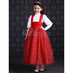 Cosplay Red Polyester Princess Kids Costume Halloween