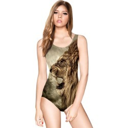 Multicolor Swimsuit Straps Backless Animal Print Spandex Swimwear found on MODAPINS from Milanoo.com Ltd for $17.99