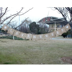 IS SWEET Pennant Wedding Decorations