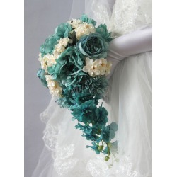 Wedding Flowers Bouquet Cascading Gorgeous Silk Flowers