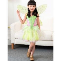 Green Princess Dress Kids Costume Halloween